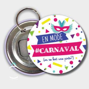 Porte-clés décapsuleur – En mode carnaval