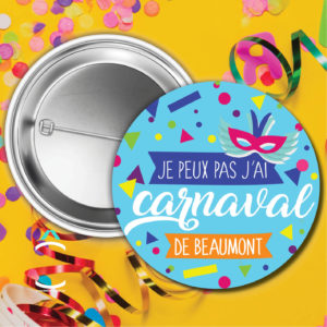 Badge carnaval personnalisable