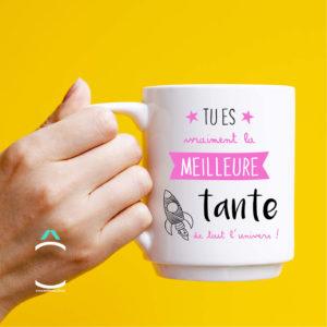 Mug – Tu es vraiment la meilleure tante de tout l'univers!