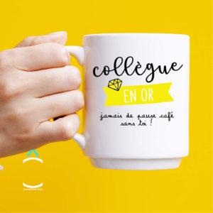 Mug – Collègue en or, jamais de pause café sans toi!