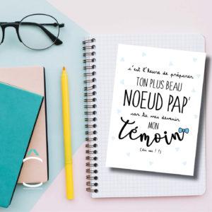 Carte postale – C'est l'heure de préparer ton plus beau nœud pap'