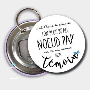 Porte-clés décapsuleur – C'est l'heure de préparer ton plus beau nœud pap'