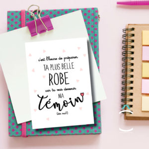 Carte postale – C'est l'heure de préparer ta plus belle robe