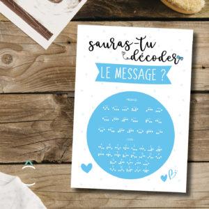 Carte postale – Veux-tu être mon parrain?