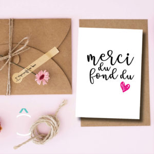 Carte postale – Merci du fond du coeur