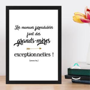Cadre – Les mamans formidables font des grands-mères exceptionnelles