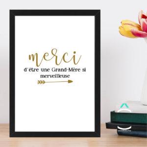 Cadre – Merci d'être une grand-mère si merveilleuse