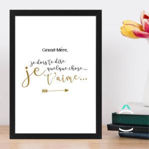 Cadre – Grand-mère, je dois te dire quelque chose: je t'aime!