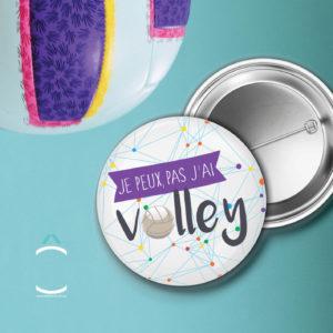 Badge – Je peux pas, j'ai volley