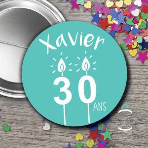 Badge personnalisable anniversaire