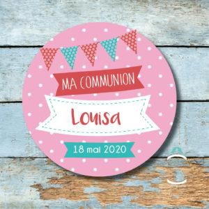 Magnet personnalisable communion/fête laïque