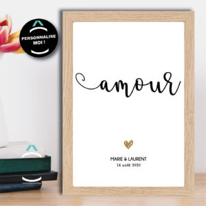 Cadre personnalisable – Amour