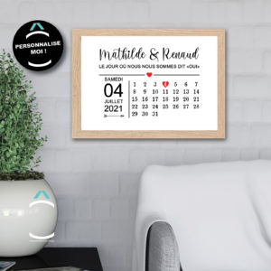 Cadre personnalisable – Calendrier