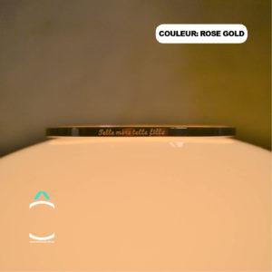 Bracelet message – Telle mère telle fille – Couleur: rose gold
