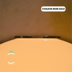 Bracelet message – Je t'adore – Couleur: rose gold