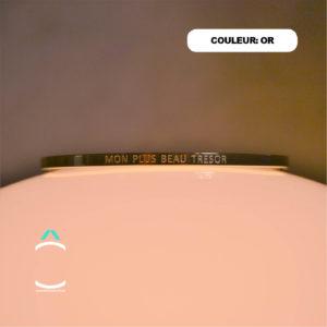 Bracelet message – Mon plus beau trésor- Couleur: or