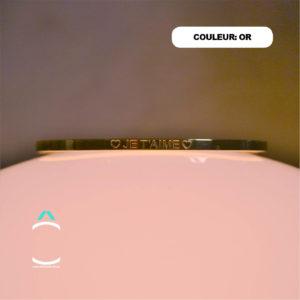 Bracelet message – Je t'aime- Couleur: or