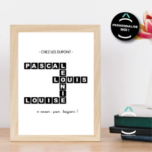 Cadre personnalisable – Scrabble