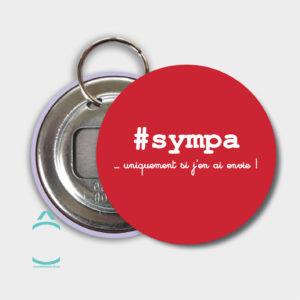 Porte-clés – #sympa …uniquement si j'en ai envie