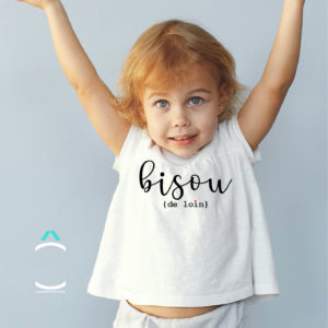 T-shirt Enfant – Bisou de loin