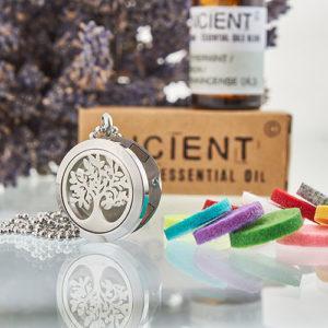 Collier Diffuseur Aromathérapie – Arbre de vie