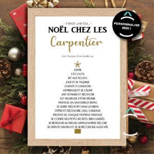Cadre personnalisable – Il était une fois Noël chez…