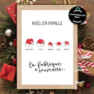 Cadre personnalisable – Noël en famille: la fabrique à souvenirs