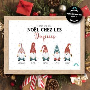 Cadre personnalisable – Il était une fois Noël