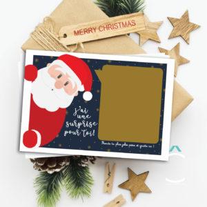 Carte à gratter – Père Noël