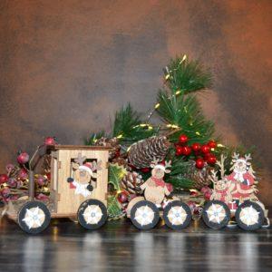 Noël – Train de Noël en bois