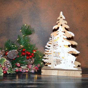 Noël – Sapin lumineux en bois