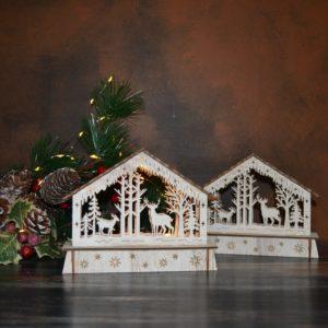 Noël – Décor lumineux en bois