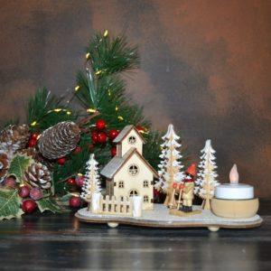 Noël – Scène d'hiver en bois