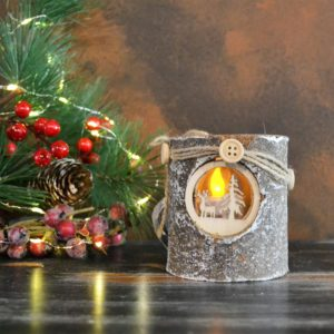 Noël – Bougeoir de Noël (Scène d'hiver)