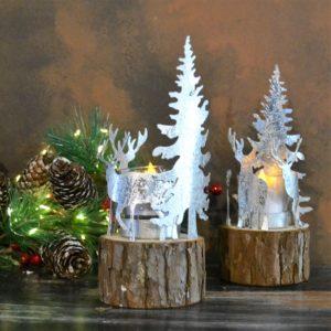 Noël – Bougie de Noël en acier