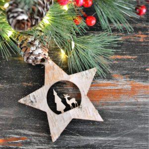 Noël – Suspension en bois (étoile)