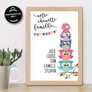 Cadre personnalisable – La plus chouette famille