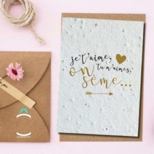 Carte postale – Je t'aime, tu m'aimes, on sème…