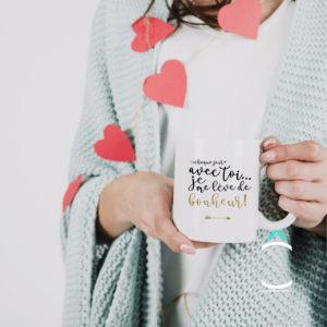 Mug – Chaque jour avec toi… Je me lève de bonheur