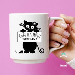Mug – Chat ira mieux demain!
