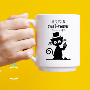 Mug – Je suis un chat-rmeur. On prend un café?