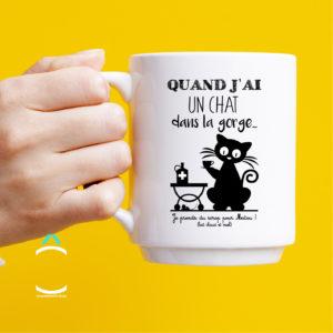 Mug – Quand j'ai un chat dans la gorge…
