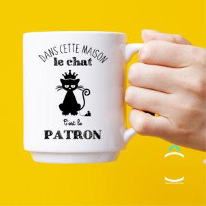 Mug – Dans cette maison, le chat c'est le patron!