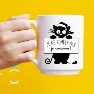 Mug – Je ne ronfle pas, je ronronne!