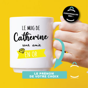 Mug personnalisable – Tu es un(e) ami(e) en or!