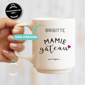 Mug personnalisable – Mamie gâteau