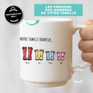 Mug personnalisable – Notre famille bonheur