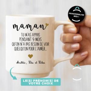 Mug personnalisable – Maman, tu m'as appris