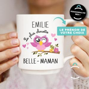 Mug personnalisable – La plus chouette belle-maman