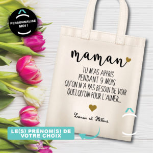 Tote-bag personnalisé – Maman, tu m'as appris